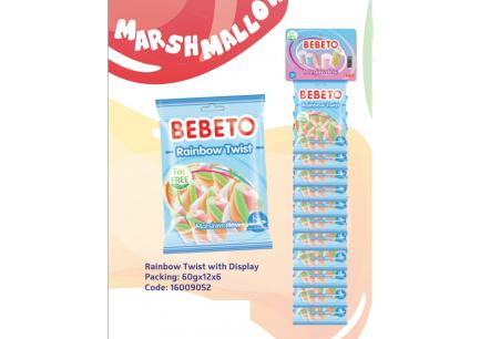 Bebeto Rainbow Twist 60g*12ks/Stojan