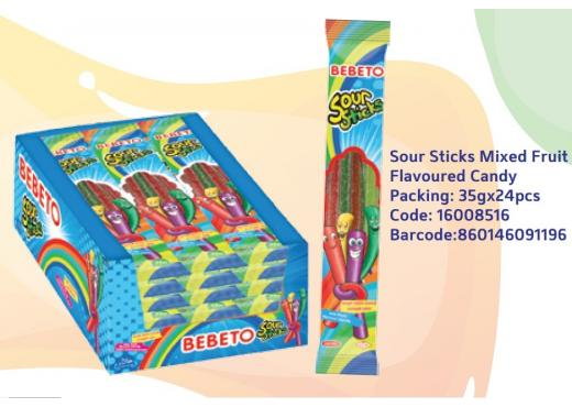 Bebeto SourStick 35g*24ks - mix